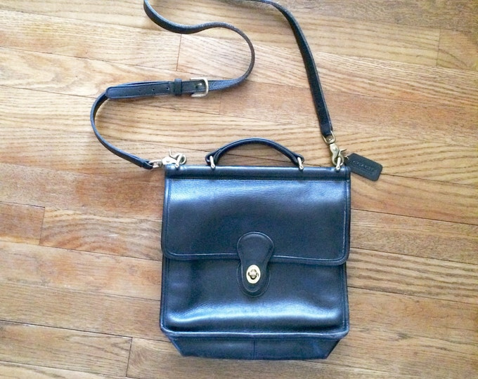Featured listing image: Coach Willis Crossbody Bag 9927 Black Leather