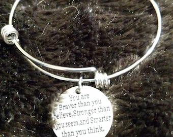 Braver than you believe bracelet