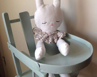 """Plush rag doll """"Bunny"""" made with cotton fabric for all!"""