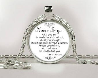 Silver Quote Necklace Pendants - Poetry Song Lyrics Music Religion Movie Gifts
