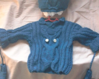 boys owl jersey and hat