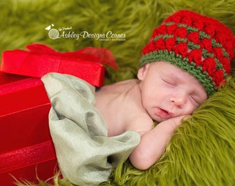 Crochet Pattern Noel Beanie (Newborn - Adult) - PDF - Instant Digital Download