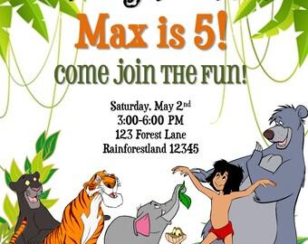 The Jungle Book Birthday Invitation