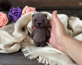 Newborn props photography bear toy Felted Teddy Bear needle felted bear Newborn props toy needle felted toy photography props newborn props