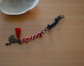 Navy, Red & White Rope Infinity Bracelet- Náutica Collection