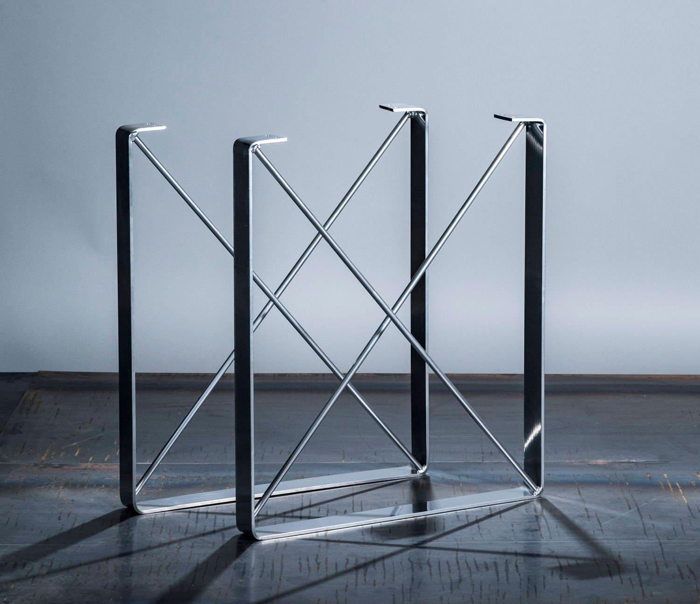 Buy Chrome Coffee Table Legs: Chrome Powder Coat Finish Metal Coffee Table Legs