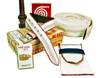 Fire Hose Belt - Handmade Belts for Men - Upcycled Belt - Handcrafted Mens Belt - Recycled Fire Hose Belt - Gift for Him - Unique Belts -