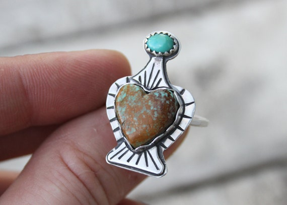 Dainty Royston Turquoise Potion Bottle With Pinto Valley Turquoise Topper Love Drunk Collection