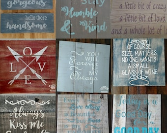 Custom Pallet Wood Sign - Your wording