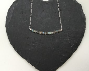 Sterling Silver Labradorite Necklace - can be customised, perfect for Bridesmaids!
