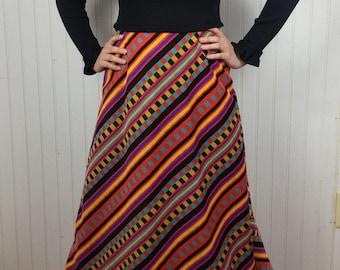 1970s Dress By Jonathan Logan Long Sleeve Maxi Dress Vintage 60's 70's