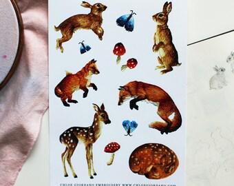 Embroidery Sticker Sheet
