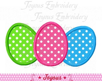 Instant Download Easter Egg Applique Machine Embroidery Design NO:1985