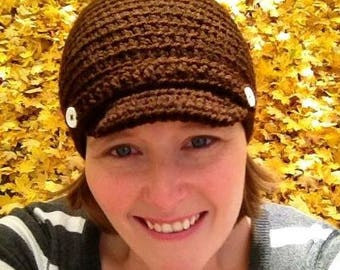 Newsboy Crochet Hat