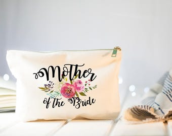 Mother of the Bride, Gift from Daughter, Gift from Bride, Wedding Gift for Mom, Wedding Day Gifts, Mother of the Bride, Makeup Bag Gift