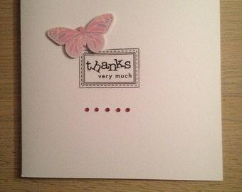 Handmade Thanks Very Much Card