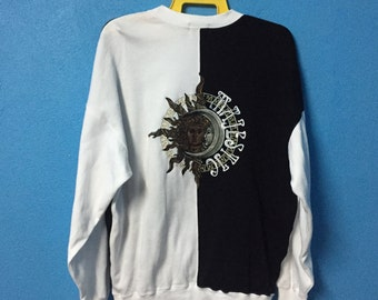 Rare!!vintage 90s majestic sweatshirt big logo embroidery size L