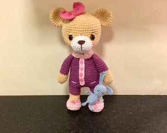 Crochet Bedtime teddy bear.