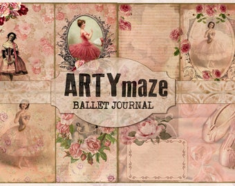 BALLET Themed Digital journal *instant download