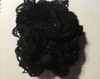 Sensory toy - black with sequins