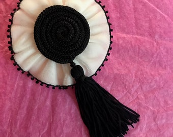 Beautiful handmade Fringe  Brooch Pin. Can be use as a Brooch and hair clip.