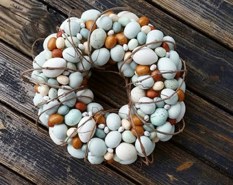 Easter Wreath, Rustic Egg Wreath, Egg Wreath, Easter Egg Wreath