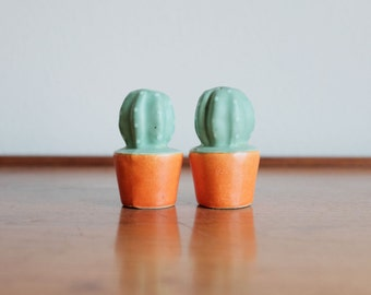 Vintage Cactus Salt and Pepper Shakers -