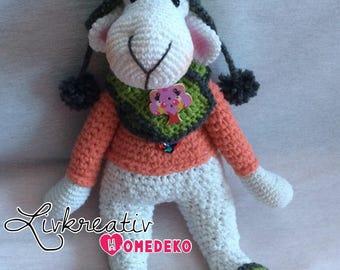 Sheep/Lamb crochet/Crochet 32 cm Amigurumi, Easter