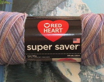 3003972 Red Heart Super Saver 5 oz Mulberry Mix