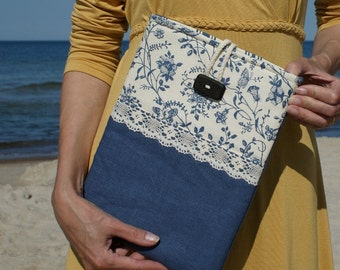 Apple iPad sleeve/1 2 3/ padded/ linen