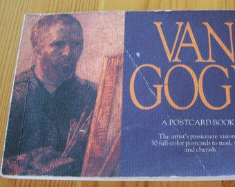 "Vintage 1988  ""VAN GOGH POSTCARD Book""  All Occasion Postal Cards  by Running Press"