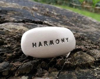 HARMONY - Ceramic Message Pebble