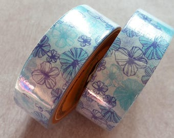 10 meters Washi tape Masking tape flowers, 1 roll of adhesive paper, gift wrapping, scrapbooking