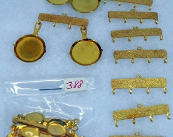 Large Lot of Miniature Doll House Hanging Bars with Pans and Spoon Utensils