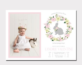 Some Bunny Birthday Invitation | Some Bunny is One | Bunny Birthday Invitation