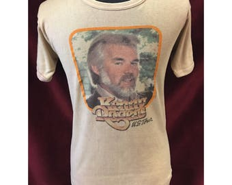 Vintage Original Kenny Rogers USA Tour Tshirt 1982