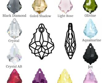 Swarovski Crystal 6090 Baroque Pendant 16mm Pick You Colour