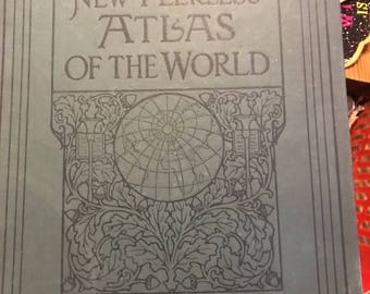 Antique The New 1926 Peerless Atlas Of The World