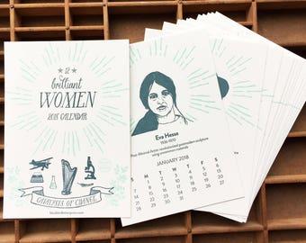 1/2 OFF! Brilliant Women 2018 calendar proceeds go to now.org