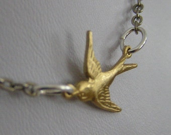Soaring - Brass and Metal Necklace