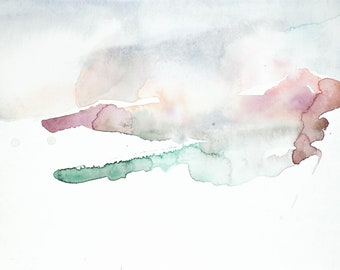 utah no. 2 . original abstract watercolor painting
