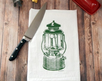 Lantern Flour Sack Tea Towel