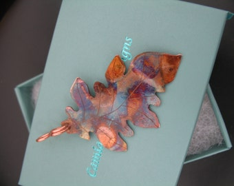 Rustic Oak Leaf Copper Necklace, Patina Copper Leaf, Copper Leaf Pendant, Handmade Leaf Pendant, Copper Leaf Jewelry, Copper Jewelry, Leaves