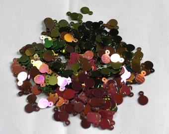 100 Disco Pink Color/Round Sequins / Metallic Texture/ KRS657
