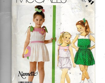 McCall's Girls' Romper and Skirt Pattern 2541