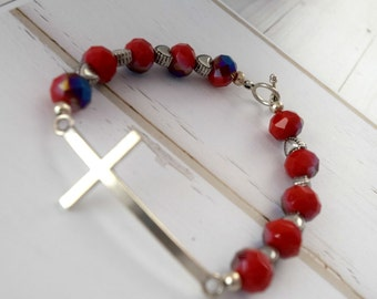 Gift-For-Girlfriend | Christian Bracelet Jewelry, Gift-For-Her, Cross Gift For Wife, Gift For Christian Women, Beaded Bracelet, Baptism Gift