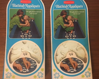 NEVER OPENED Vintage Rubbermaid Floral Bath Appliques