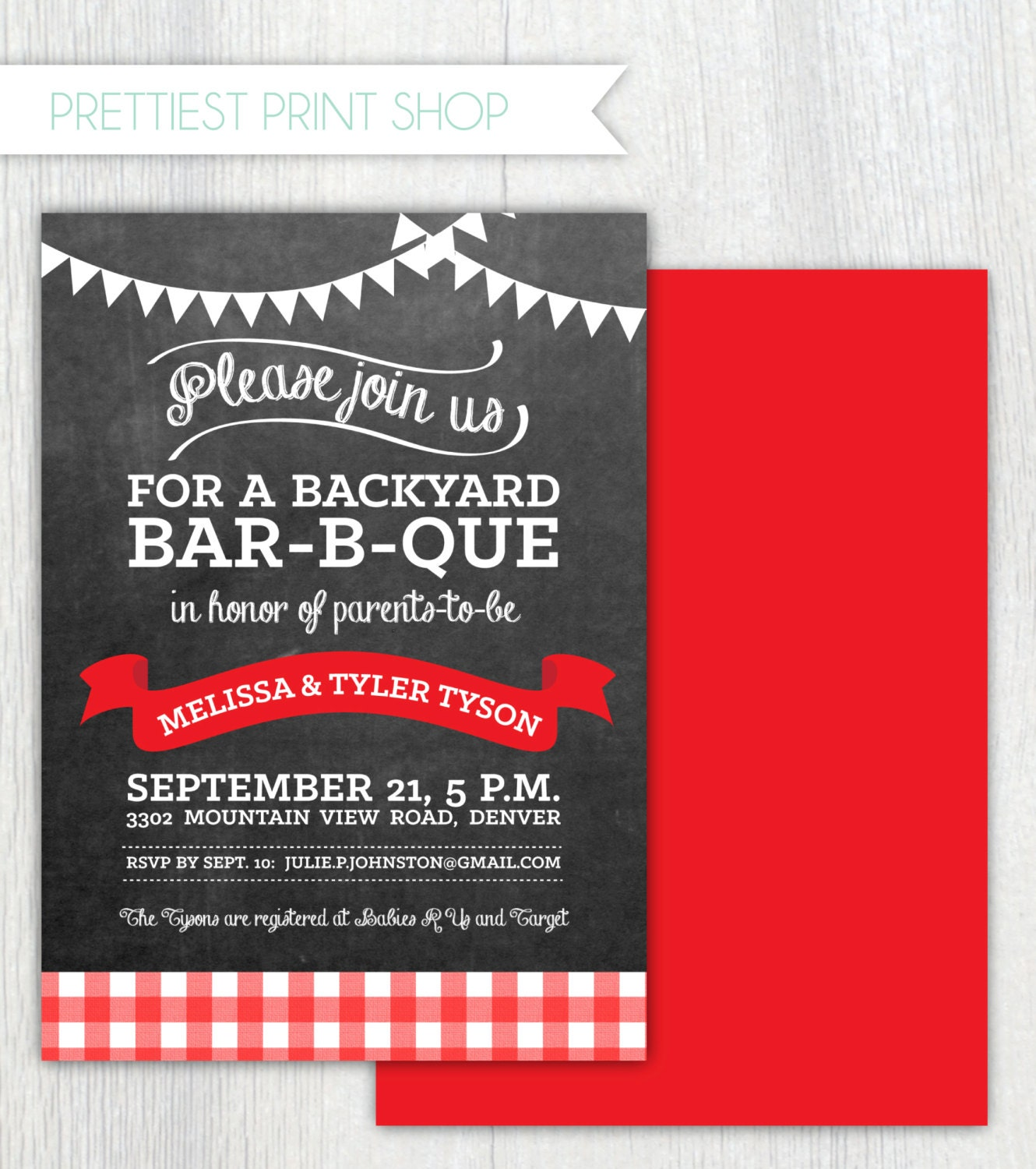 Printable Barbecue invitation Baby-q Burger bar Baby-Q