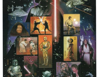 2007 Star Wars US Postage Stamps (15) -Mint-Unused- Scott 4143 - Full Sheet
