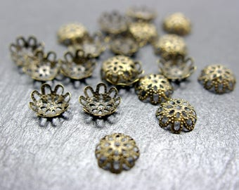 set of 100 caps 10 mm bead caps